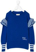 Bobo Choses frilled detail jumper