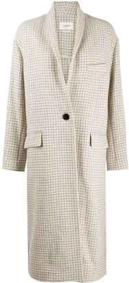 Etoile Isabel Marant Houndstooth-Print Single Breasted Coat
