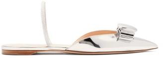 Rupert Sanderson Belinda Pebble Mirrored-leather Slingback Flats - Womens - Silver