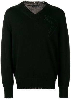Riccardo Comi embroidered V-neck jumper