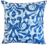 Coretta Ikat Throw Pillow Cover The Pillow Collection Color: Blue