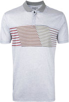 Lanvin striped panel polo shirt
