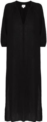 HONORINE V-neck cotton midi dress