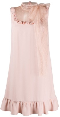 RED Valentino point d'esprit panel sleeveless dress