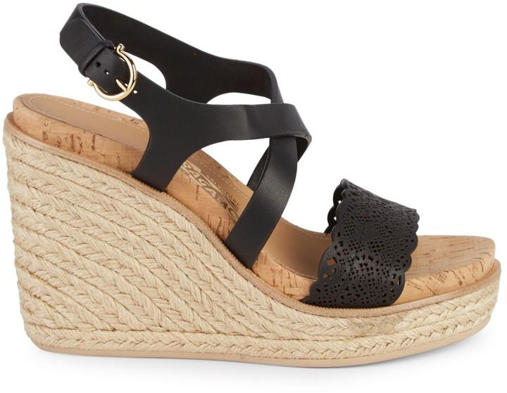 5de1d69ce4f Gioela Lasercut Wedge Sandals