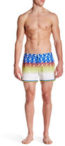 "Parke & Ronen Mykonos Print Stretch Short - 4"" Inseam"
