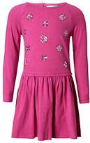 John Lewis Children's Stars Sequin Dress, Berry