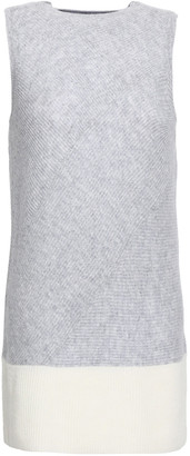 Duffy Two-tone Ribbed Cashmere Vest