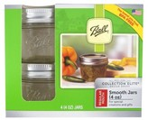 Ball Set of 4 4 Ounce Smooth Sided Canning Jar