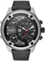 Diesel Boltdown Men's Black Leather Strap Watch