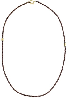 Luis Morais 18kt Yellow Gold And Brown Beaded Necklace