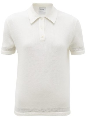 Barrie Cashmere-blend Terry Polo Shirt - White