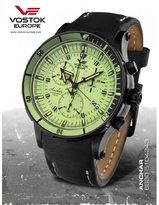 Vostok Europe Vostok-Europe Anchar Men's Chrono Diver Watch Black and Green 6S30/5104243