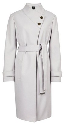 Dorothy Perkins Womens Dove Button Wrap Coat