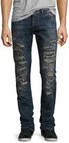 PRPS Demon Slashed 3D Crinkle Denim Jeans, Indigo