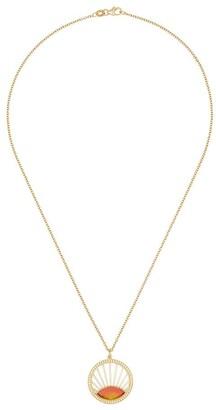 Andrea Fohrman 18K yellow gold diamond sunset pendant necklace