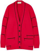 Christopher Kane Zip-embellished Cashmere Cardigan - Red