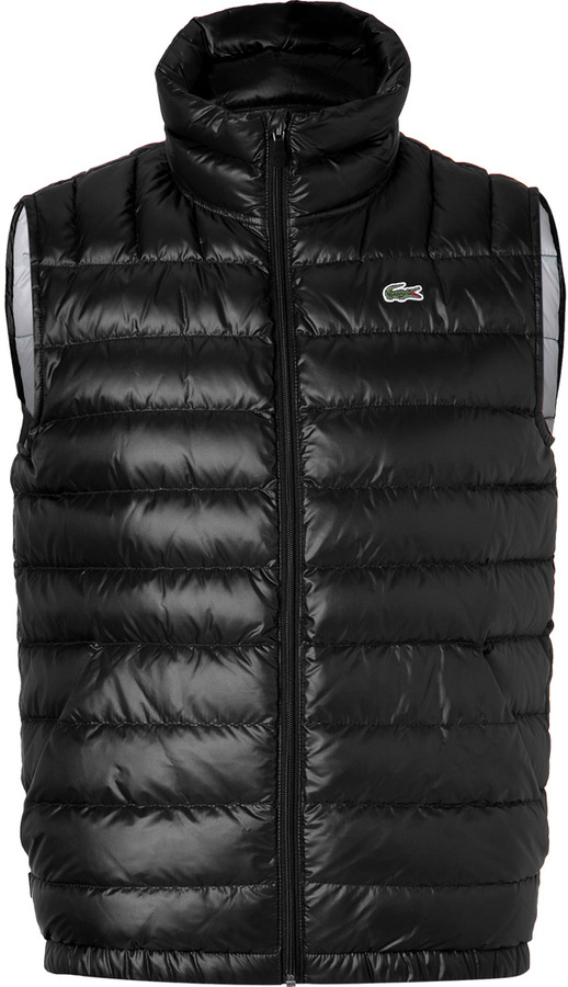 Lacoste Quilted Vest in Black