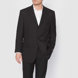 La Redoute Collections Plus Straight Cut Suit Jacket with Single-Breasted Buttons