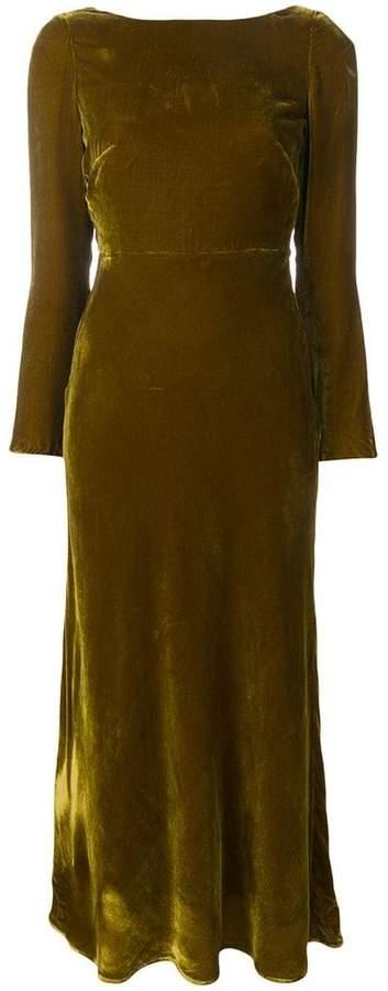 Saloni deep back dress