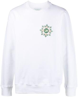 Casablanca Logo-Print Round Neck Sweatshirt