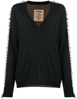 UMA WANG Longline Two-Tone Jumper