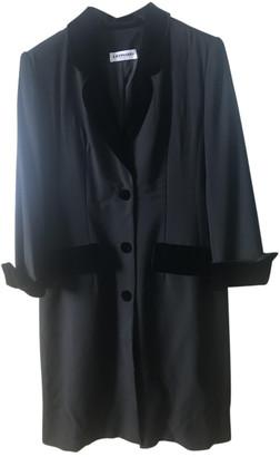 Leonard Black Wool Coats