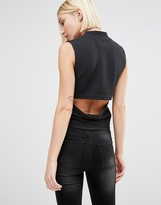 Cheap Monday High Neck Top with Cut Out Back