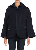 Betsey Johnson Wool Blend Cape Coat