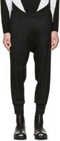 Neil Barrett Black Wool Camo Slouch Trousers