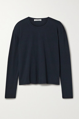James Perse Cotton-jersey Top - Navy