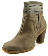 El Naturalista N495 Women Round Toe Leather Gray Ankle Boot.