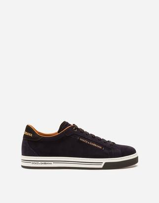Dolce & Gabbana Rome Sneakers In Split-Grain Leather