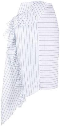 ANAÏS JOURDEN Lolita striped bias skirt