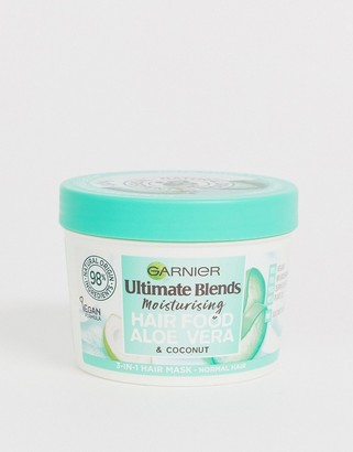 Garnier Ultimate Blends Vegan Hair Food Aloe Vera 3-in-1 Normal Hair Mask Treatment 390ml-No Colour