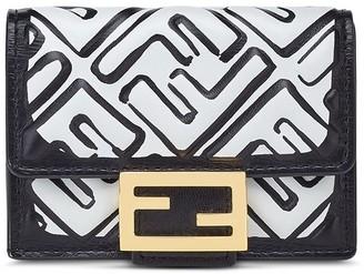 Fendi Logo-Print Tri-Fold Wallet
