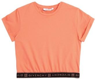 Givenchy Kids Metallic Logo Trim T-Shirt