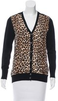 Equipment Silk Leopard Print Cardigan