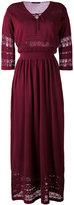 Roberto Collina macramé detail long dress - women - Cotton - S