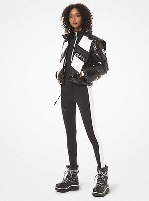MICHAEL Michael Kors MK Color-Block Cire Hooded Puffer Jacket - White - Michael Kors