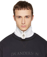 J.W.Anderson White Merino Zip Neck Band