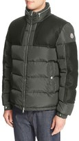 Moncler 'Arcs' Wool Trim Quilted Down Coat