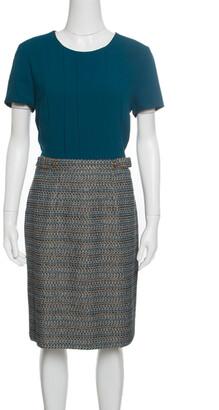HUGO BOSS Boss By Teal Textured Belted Divenice Dress M