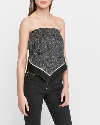 Express Spotted Handkerchief Tube Top