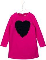 MSGM appliqué pleated heart dress