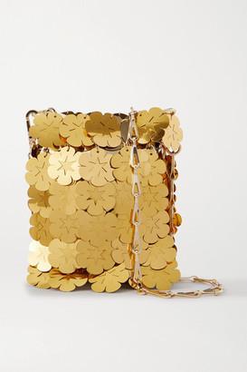 Paco Rabanne Sparkle Mini 1969 Paillette-embellished Chainmail Shoulder Bag - Gold