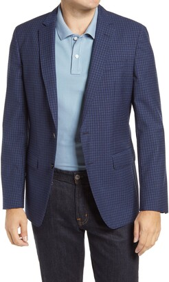 HUGO BOSS Hartlay Trim Fit Check Wool Sport Coat