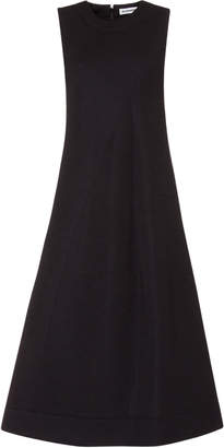 Jil Sander Asymmetric Pleated Sleeveless Dress