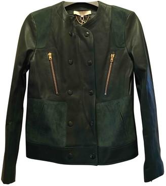 Vanessa Bruno Green Leather Jacket for Women