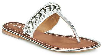 Ravel DESOTO women's Flip flops / Sandals (Shoes) in Silver